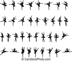 Ballet Silouettes - An Illustration of Ballet Silouettes