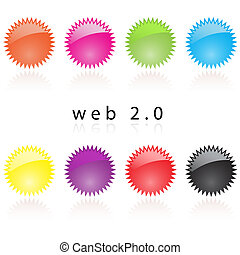 Web 20 internet labels reflective - Web 20 reflective...