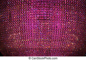 Purple Crystal Beads - A abstract purple crystal bead...