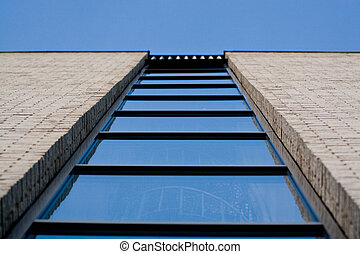 Looking up at a window