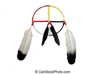 Medicine Wheel - A hand crafted Native American medicine...