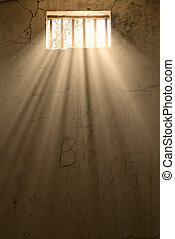 light of freedom - sunlight pours in through the prison...