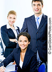 Business group - Portrait of group of three successful...