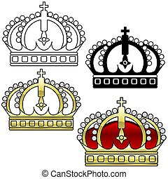 Royal Crown A - detailed illustration