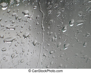 Rain drops in a window