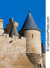 Castle of Olite - Tower of the castle of Olite, Navarra...