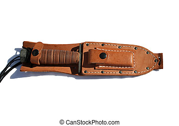 USMC Fighting Knife in leather scabbard