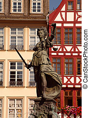 Statue of Justizia at R?mer in Frankfurt
