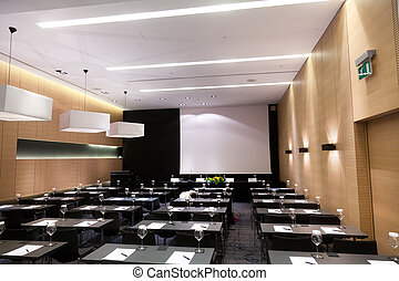 Press conference hall in a luxury hotel