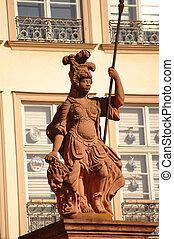 Statue of Minerva at Rmer in Frankfurt