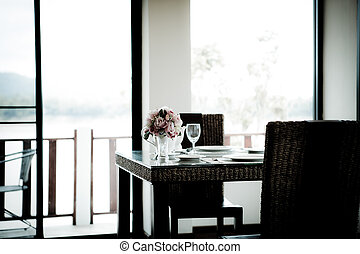 Vintage style of Dinning room with table and chairs