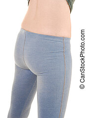 Backside of woman. - The backside of a young slim woman in...