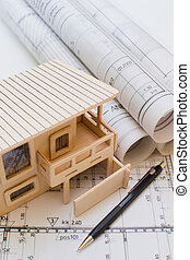Architecture model house showing bu