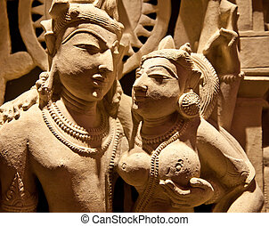 Holy couple - North-East India, X Century AD, Basalt