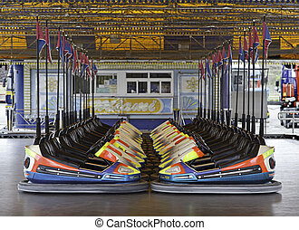 Bumper Cars - Bumper cars, fair booth, fun and action