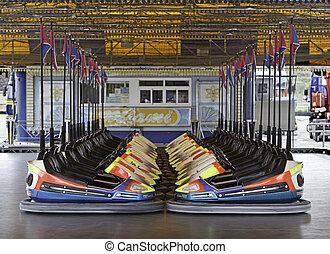 Bumper Cars  - Bumper cars, fair booth, fun and action