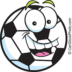 Soccer Ball - Cartoon illustration of a smiling soccer ball