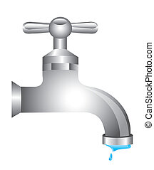 tap water isolated over white background vector illustration...
