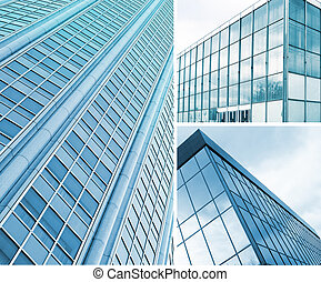 square windows of skyscraper - Background of square windows...