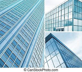 square windows of skyscraper - Background of square windows...