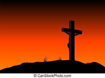 Crucified - Abstract illustration of christ on the cross