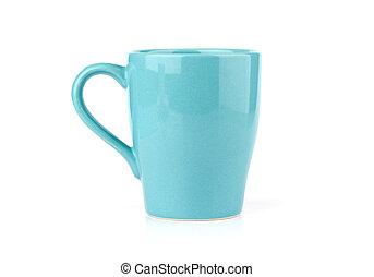 Blue Mug Isolated on White