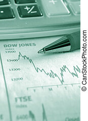 Business data - Chart of stock market performance. Very...