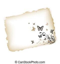 Butterflies at paper
