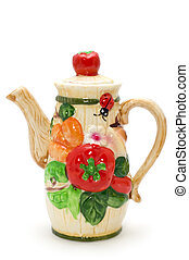 Colored teapot - object on white - Colored teapot