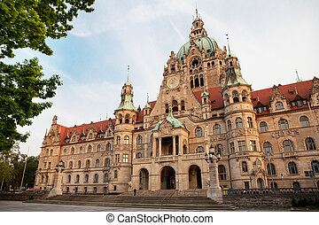 Neues Rathaus New Town hall in Hannover, Germany,,,