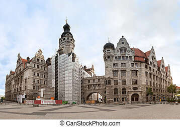 Neues Rathaus in Leipzig, Germany - Neues Rathaus (New Town...
