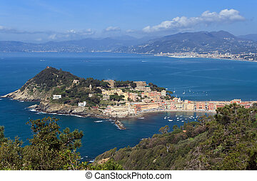 Sestri Levante, Italy - overview of Sestri Levante, small...