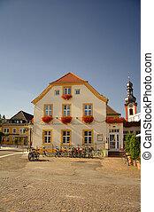 A traditional german house in Schwetzingen, nearby...