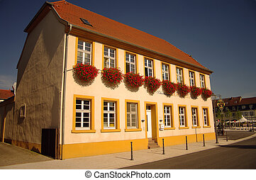 A traditional german house in Schwetzingen, nearby...