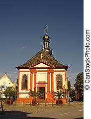 Church in Schwetzingen nearby Heidelberg, Germany