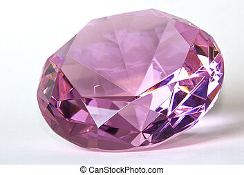 Faceted Pink Kunzite Gemstone - Faceted round cut pink...