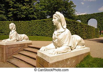 Sphinx statue, Schwetzingen Castle, Heidelberg, Germany