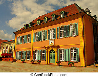 Original German house in Schwetzingen
