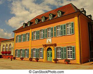 Original German house in Schwetzingen