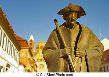 Pilgrim statue at Speyer Cathedral