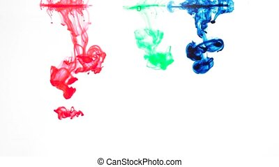 primary colors ink in water