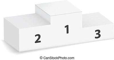 3d winning podium