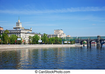View of Moscow. Pushkinsky Pedestrian Bridge - View of...
