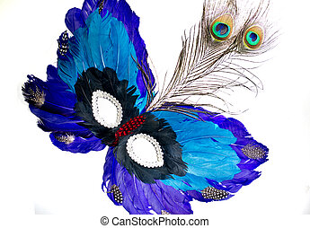 Mardi Gras Mask - Mardi Gras mask on white background