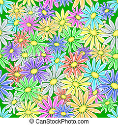 Abstract flower background - Abstract seamless floral...