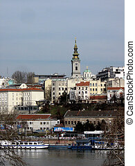 Belgrade - view from the Danube - Belgrade city view from...