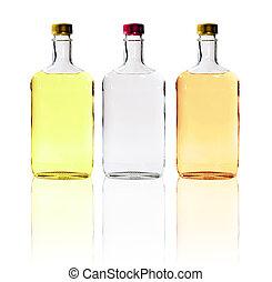 Alcohol Bottles Isolated