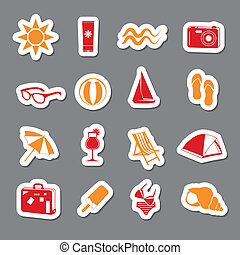 summer stickers collection