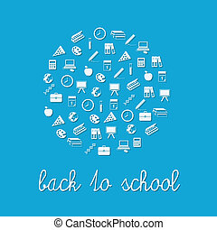 back to school circle