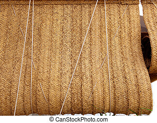Esparto woven hemp curtain as traditional mediterranean -...